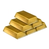 6 Pack Plastic Stackable Gold Bar