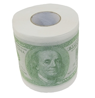 $100 Dollar Bill Money Gag Gift Toilet Paper