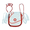 Sexy Nurse Costume 3 Piece Set Includes Hat Apron and Stethoscope White