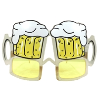 Yellow Beer Stein Goggles Clear Glasses Party Sunglasses