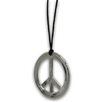 Peace Sign Pendant Necklace 70's Hippie Costume