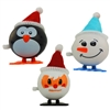 3 Pack Wind Up Jumping Christmas Set Santa Snowman & Penguin
