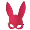 Adult Deluxe Sexy Bunny Half Mask Bright Pink