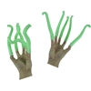 Set of 10 Green Silicone Finger Tentacle Puppets