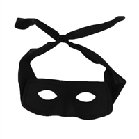 Bandit Zorro Eye Mask Non-Woven Black