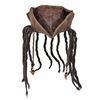 Distressed Brown Carribean Pirate Costume Tri-corn Hat Adult With Dreadlocks