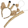 Plush Giraffe Costume Set w/ Ear Headband, Tail, & Bowtie