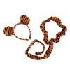 Novelty Giant Plush Striped Tiger Ears Headband and Tail Set