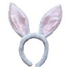 Soft White & Pink Easter Bunny Ears Headband