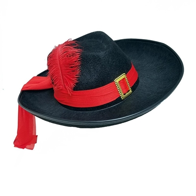 Black Three 3 Musketeers Hat