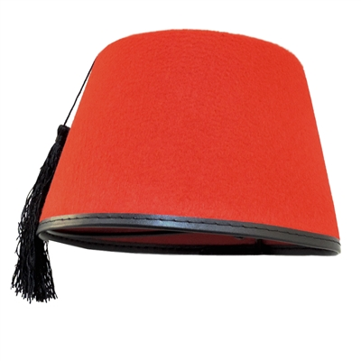 Red Fez With Black Tassel