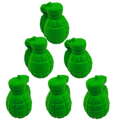 Stress Relief Squeezable Foam Green Grenade Package of Six (6)