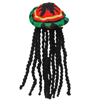 Novelty Giant Rasta Dreadlock Reggae Jamaican Hat