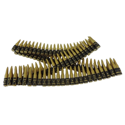 Plastic Toy Fake Bullet Belt Army Solider Rifle Sash Approx 98 Bullets