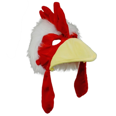 Chicken Rooster Plush Costume Hat