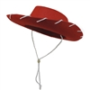 Children's Western Woody Style Kids Cowboy Ranch Hat Red 20""