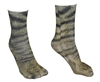 Adult 3D Animal Paw Feet Print Foot Crew Socks Elastic Hosiery Cat
