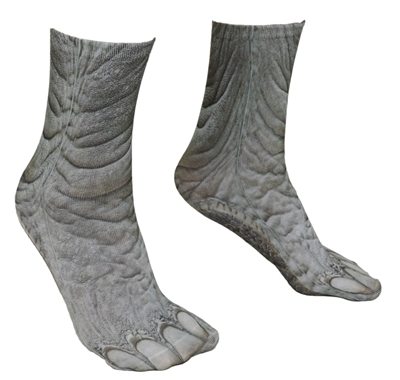 Adult 3D Animal Paw Feet Print Foot Crew Socks Elastic Hosiery Elephant