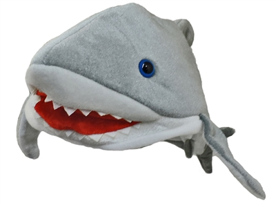 Plush Killer Shark Jaws Great White Costume Hat