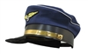 Navy Blue Airline Captain Pilot Aviator Airplane Costume Hat