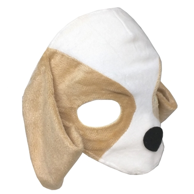 Childs Plush Puppy Dog Animal Mask