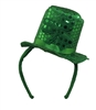 Green Sequin St. Patrick's Day Mini Shamrock Top Hat Headband St. Paddy's Leprechaun