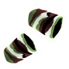 Set of 2 Camo Terrycloth Wristband Sweatbands