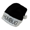 Bah Humbug! Santa Claus Christmas Hat Black
