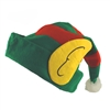 Santa's Helper Christmas Elf Hat with Attached Ears Green and Red