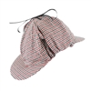 Sherlock Holmes Houndstooth Detective Costume Hat Red & Black