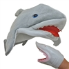 Plush Killer Shark Jaws Great White Costume Hat and Hand Puppet