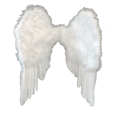 Small White Feather Angel Wings